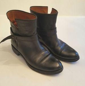Madewell Black Leather Biker Moto Ankle Boot